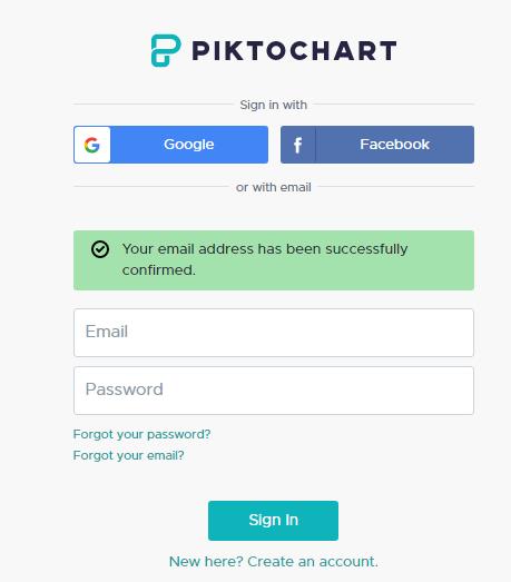 Como hacer una infografía con Piktochart. Registro
